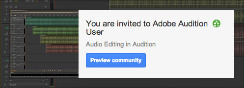 Adobe Audition user community