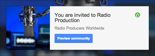 Radio production community