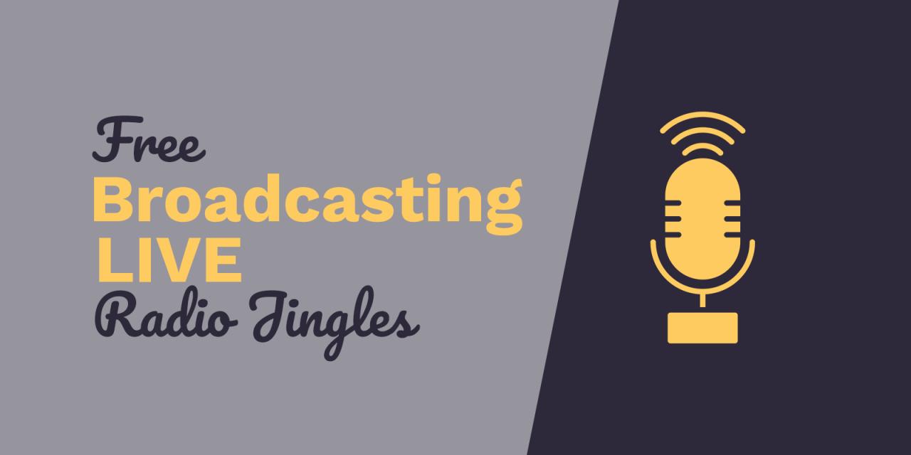 Free Radio Jingles Broadcasting Live - Music Radio Creative Blog
