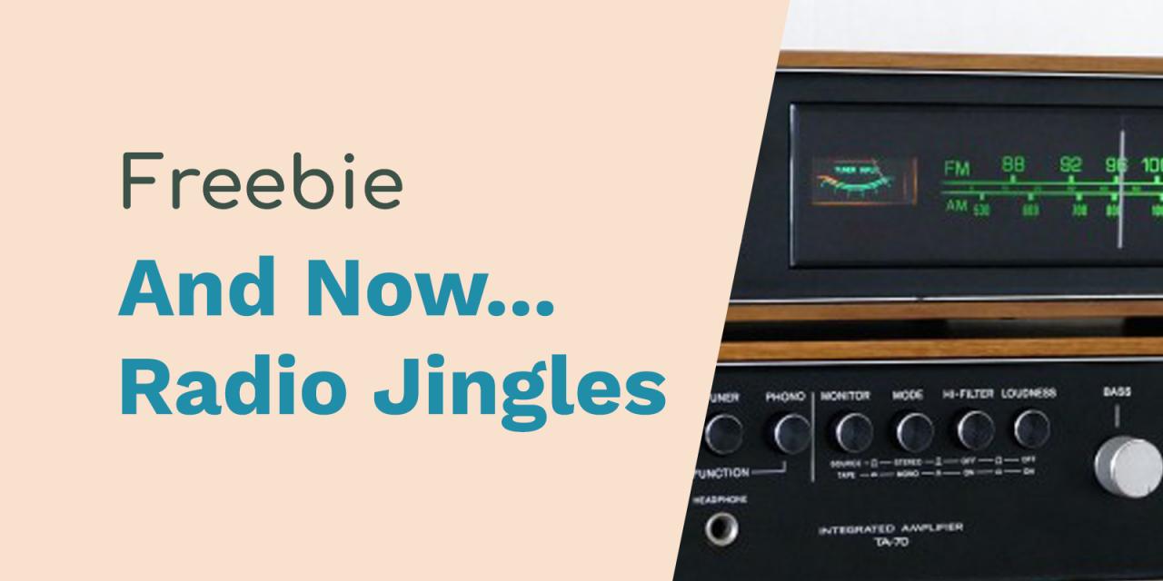 Free Radio Jingles – And Now…