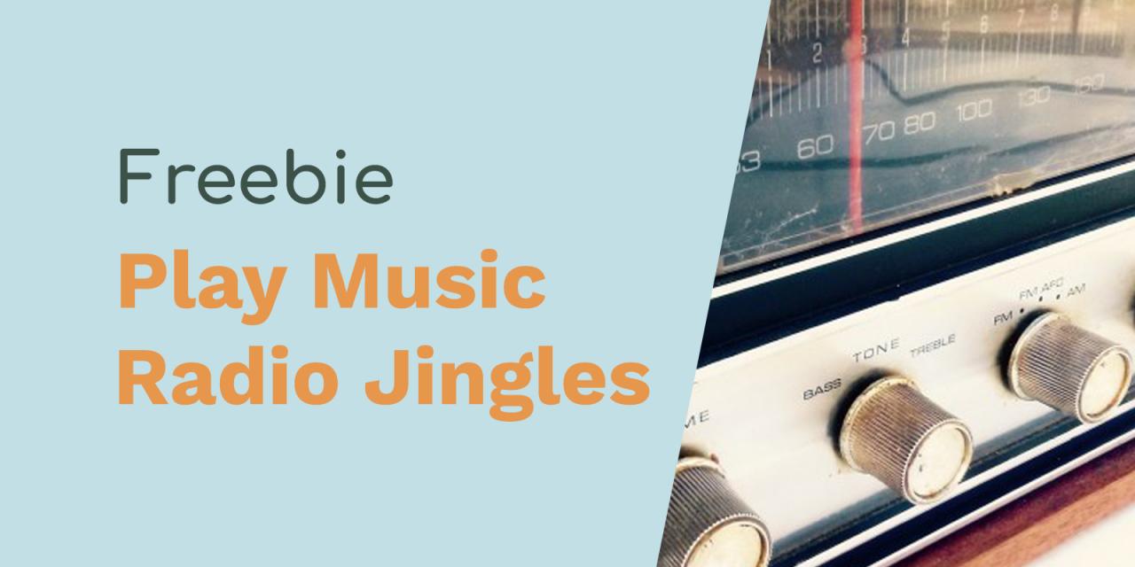 Playing The Music You Love Radio Jingles