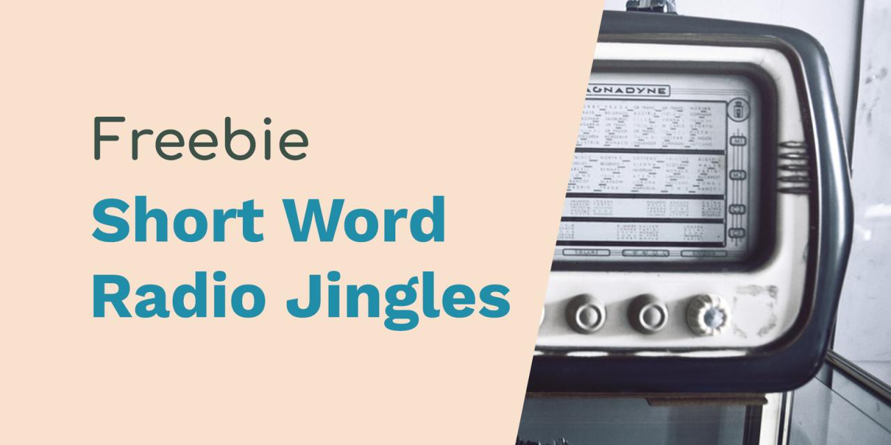 Short Word Free Radio Jingles