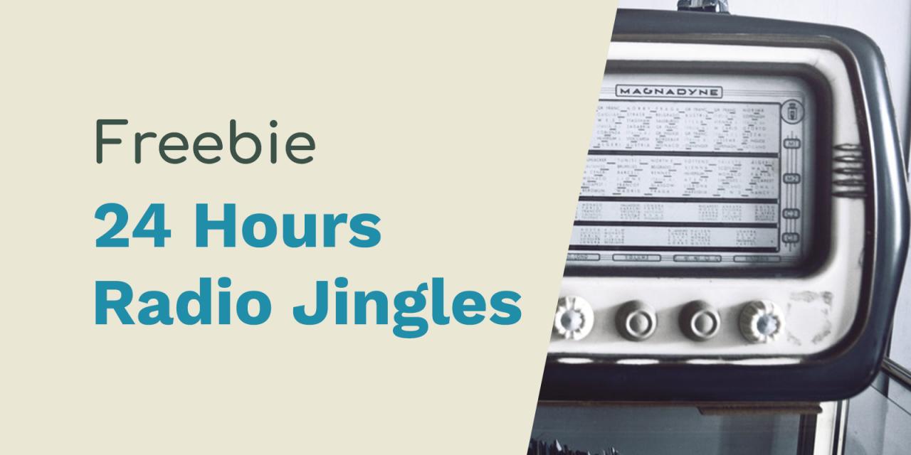 24 Hours a Day Radio Jingles