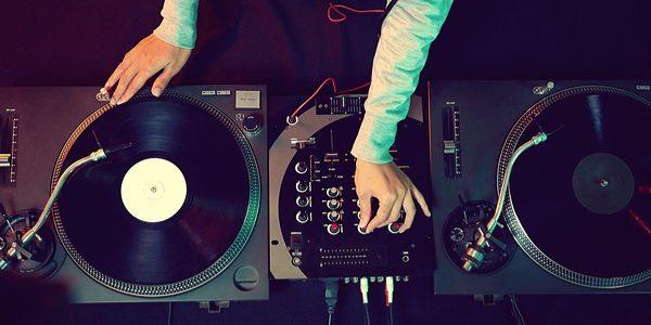 DJ drops mix