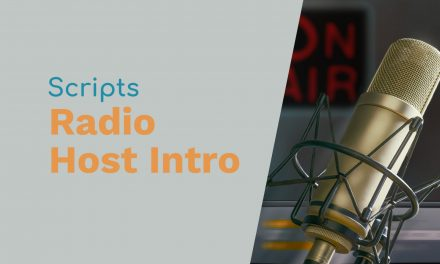 Scripts for Introducing the Radio Host