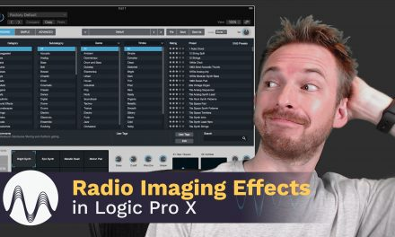 How to Make Radio Imaging Effects in Logic Pro X
