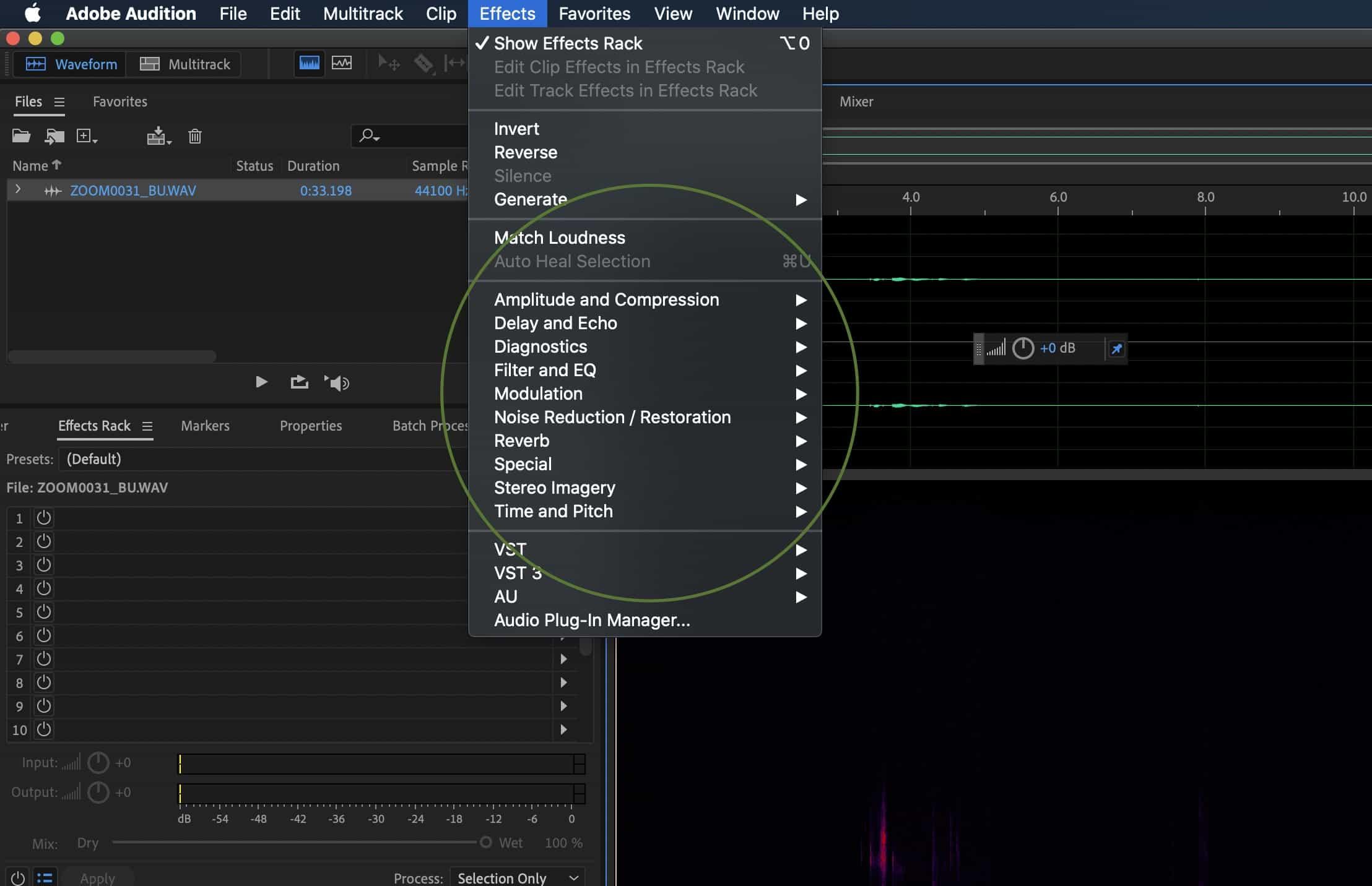 Adobe Audition CC For Beginners – Waveform vs Multitrack